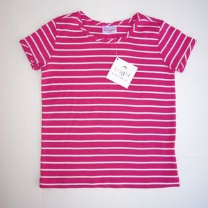 Hanna Andersson 6X Stripe Tee NWT Hot Pink